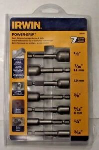 IRWIN 394100 Power-Grip Screw And Bolt Extractor Set 7-Piece USA