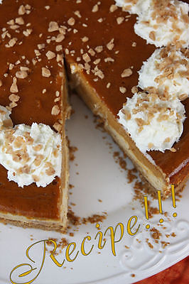 ☆Layered Pumpkin Pie Toffee Cheesecake