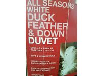 Duvet White duck and feather down