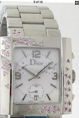 "Christian Dior ""Riva"" Chronograph Watch w/Pink Sapphire's NWT"
