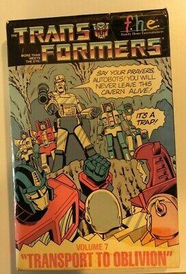 Trans Formers - Transport to Oblivion  volume 7 (VHS 1984) Big Box Rare***