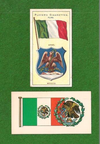 Bandera de MEXICO National Flag  1905 & 1938 original cards