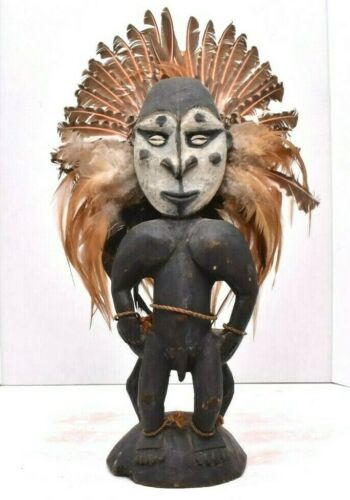 Vintage tribal figure ancestor statue sepik carving papua new guinea oceanic art