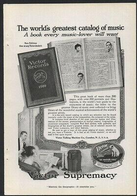 1919 Ads Victor Talking Machine RCA Victor Bosch Magneto
