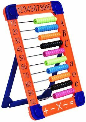 Plastic Abacus Math Toy-Classic Educational Counting Toys for Kids vs 100 Beads