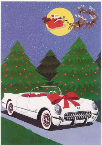 Corvette Christmas Cards