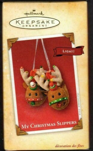 My Christmas Slippers 2004 Hallmark Keepsake Magic Ornament