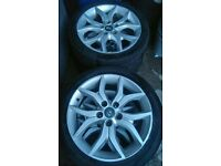 """17"""", HYUNDAI COUPE 5 STUD ALLOYS IN DECENT CONDITION, £80"""