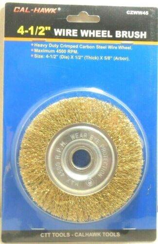 """WIRE WHEEL 4 1/2"""" INCH x 5/8""""- 1/2"""" INCH ARBOR CRIMPED WHEEL ANGLE GRINDER"""