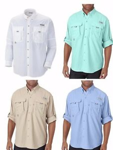 Columbia-Men-039-s-BAHAMA-II-Long-Sleeve-Fishing-Shirt-Sizes-S-2XL-3XL-7048