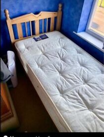 Childs Single bed and mattress