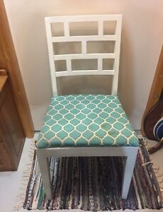 Solid Wood White Painted Chair Needs Reupholstery