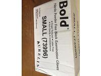 Bold black examination gloves Small
