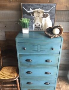 Rustic vintage dresser antique chest of drawers