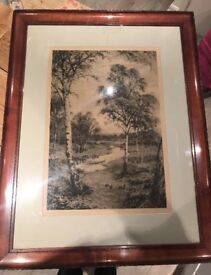 Vintage etching by Fred Slocombe/Frederick Slocombe