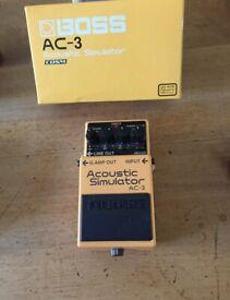 Guitar pedal - acoustic simulator - Boss AC3