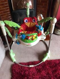 Jumperoo baby bouncer jungle £40 ONO