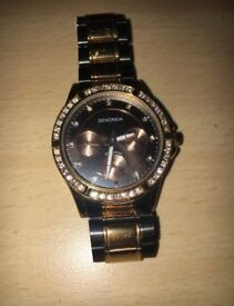 Sekonda Rose Gold & Black wrist watch