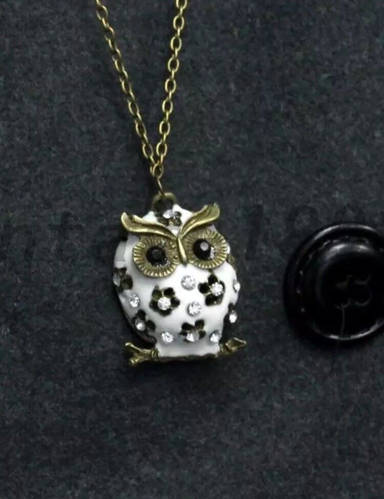 Long Owl Necklace New