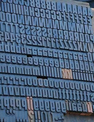 Letterpress Wood Printing Blocks 352pcs - 1.42 Tall Wooden Type Woodtype