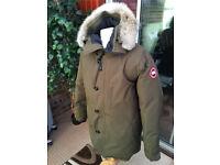 Canada goose coat Khaki coat in green only