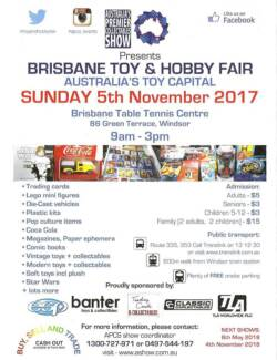 Wanted: ATTN Queensland collectors: Brisbane Toy and Hobby Fair