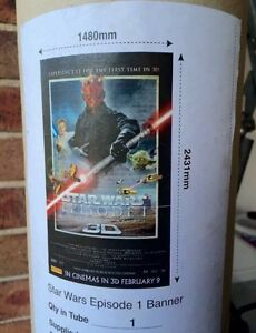 STAR WARS: Episode 1 - large 8ft x 5ft genuine cinema banner Meadowbank Ryde Area Preview