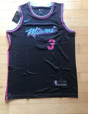 Dwayne Wade Miami Vice City Edition Mens Swingman Jersey Large Black
