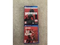 Wolfenstein the new order and Wolfenstein the old blood for PS4