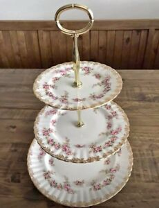 Royal Albert Dimity Rose 3tier Cake Stand