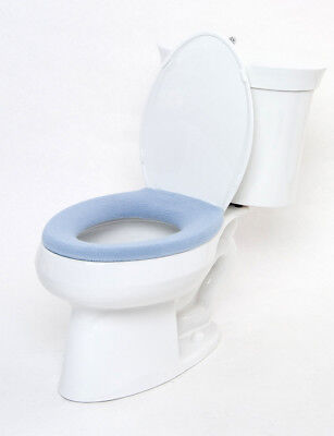 (COMFY COVERS GERM-RESISTANT TOILET SEAT COVER .  JAPANESE DESIGN. SKY BLUE)