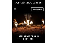 2 x Arcadia tickets with Hotel Saturday 5th May