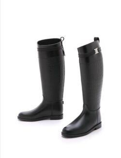 Brand New, Michael Kors Miranda croc-effect rubber rain boots