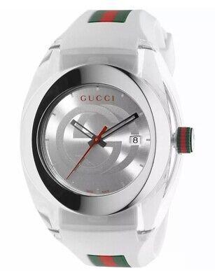 Gucci YA137102 Swiss Quartz Stainless Steel Mens Watch - White