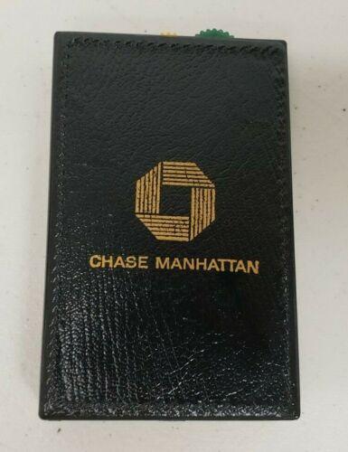 Vintage Advertising Chase Manhattan Swank Credit Card Holder Holds 3 Cards