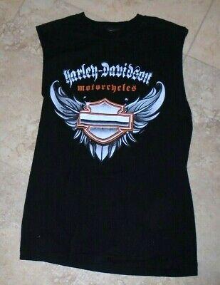Black Sleeveless Harley Davidson t-shirt Tampa FL Men's S/M Small/Medium