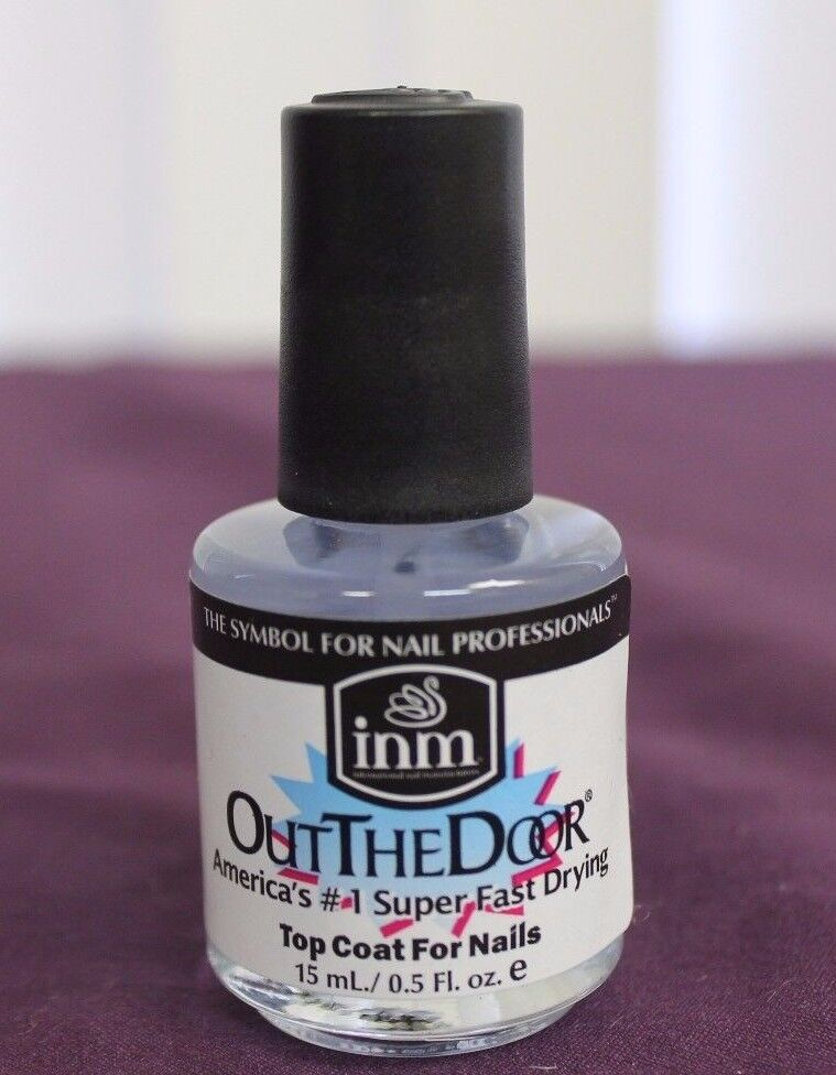 NEW INM Out The Door SUPER FAST DRYING Top Coat Clear Nail Polish ...