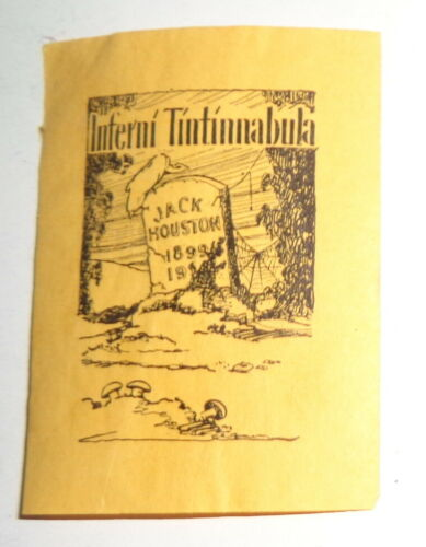 "Jack Houston, miniature Bookplate. ""Inferni Tintinnabula"". 20th century"