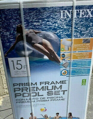 Intex 15ft X 48in Prism Frame Above Ground Pool Set! NEW IN BOX!!