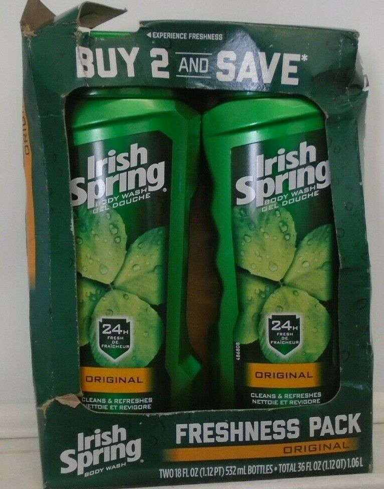 Lot Of 4 Irish Spring Body Wash, Original,18 Fl Oz