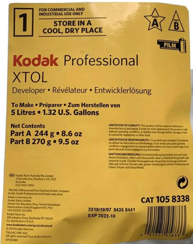 Kodak Xtol black & white film developer(power), to make 5 Litres Exp Oct 2022