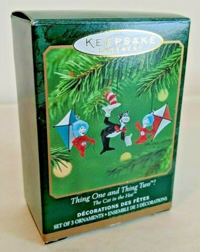 Hallmark Keepsake Ornament Thing One and Thing Two The Cat in the Hat 2001