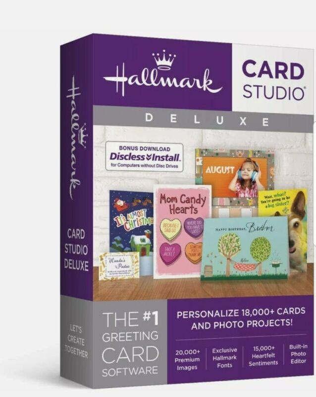 Hallmark Card Studio Deluxe Greeting Card Software For Windows 7 8 10