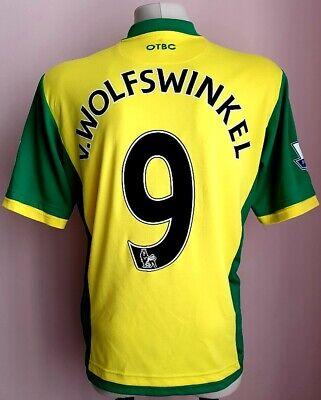 Norwich City 2013 - 2014 Home football shirt Wolfswinkel image