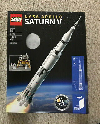 Lego Ideas 21309 Saturn V Rocket to Moon new sealed epic box wear space