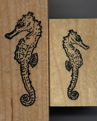"mounted stamps  Seahorse set of 2    mount sizes  1"" X 2 1/2""   & 1"" X 1 3/4"""