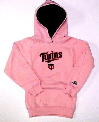 Minnesota Twins Sweatshirt Hoodie Girls Juniors 7-16 Pink Hooded