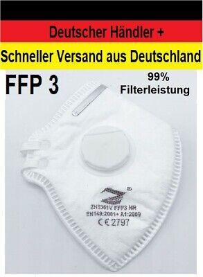 Premium FFP3 Maske mit Ventil Faltmaske Atemschutzmaske Mundschutz Halbmaske