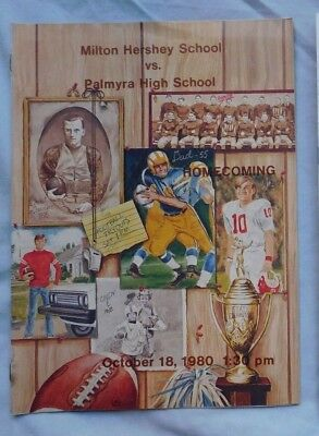 Milton Hershey School Vs Palmyra High School Pa Program October 18 1980