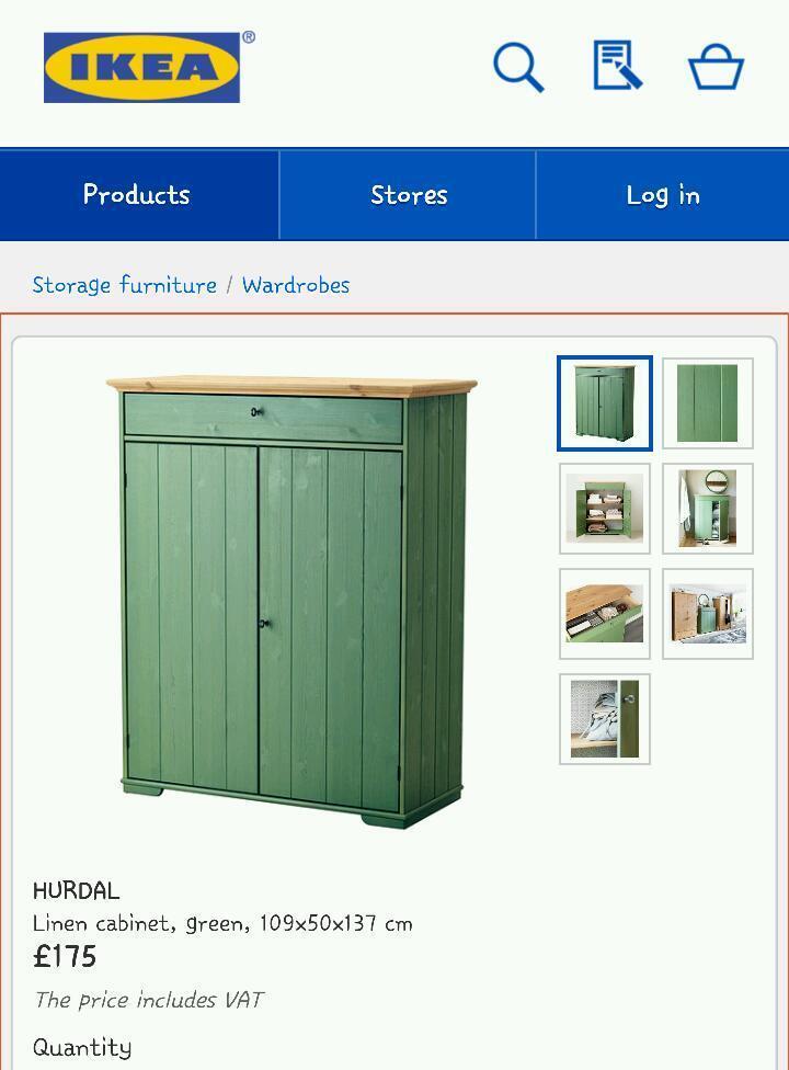 Ikea Hurdal Linen Cabinet Like new